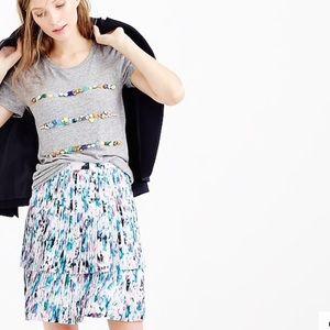 J. Crew watercolor skirt